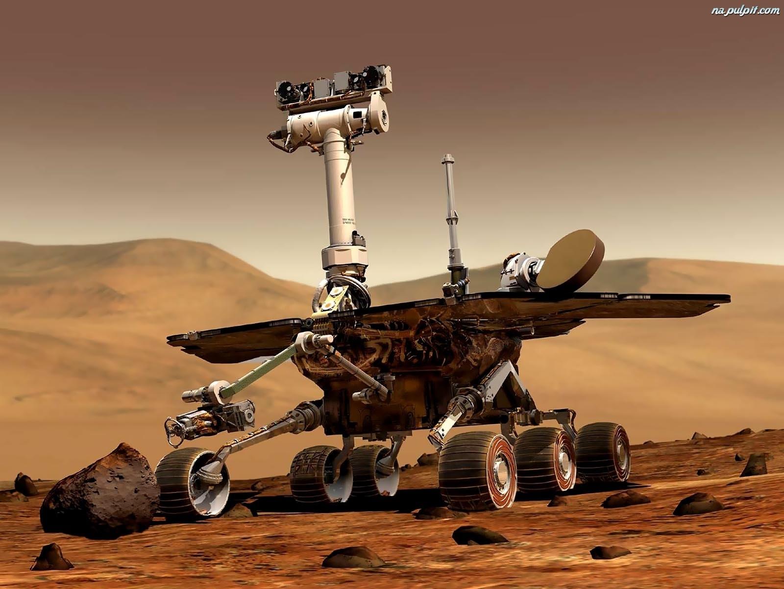 Kosmos, Mars, Rover, Robot Na Pulpit